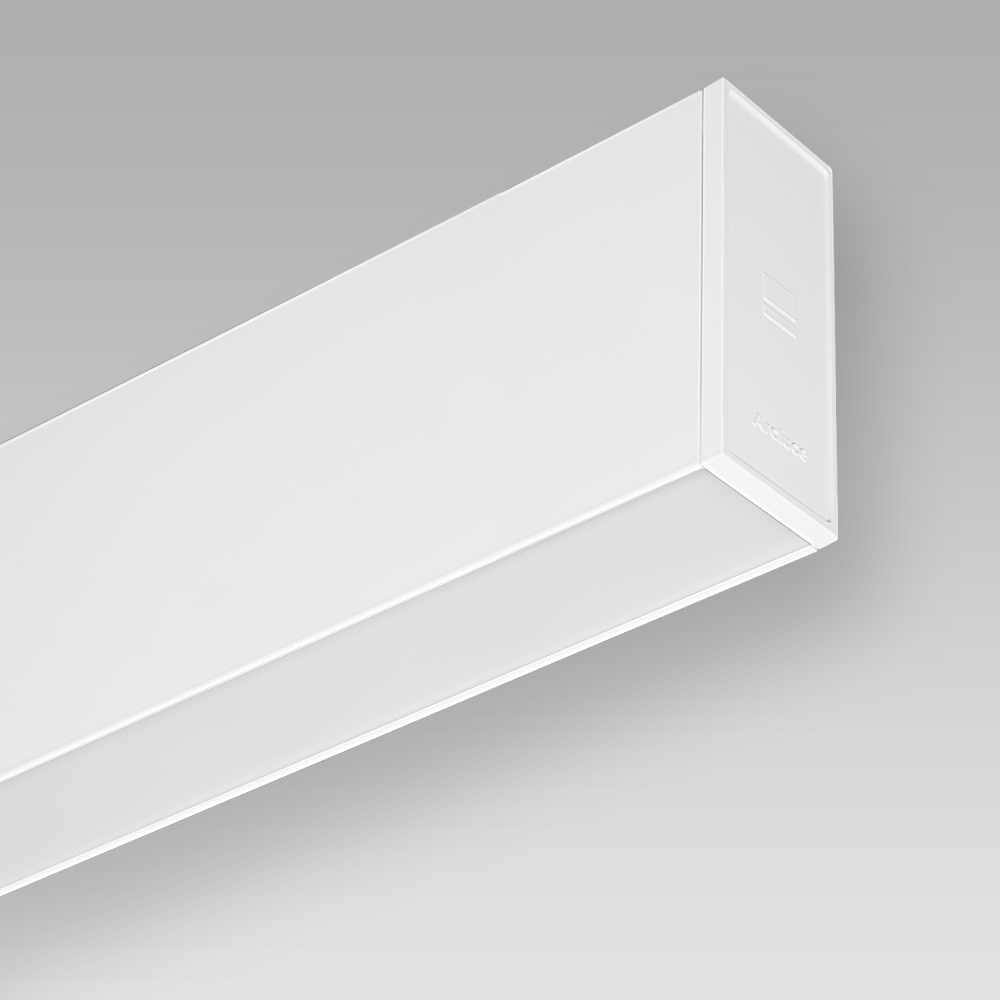 Wall mounted/recessed fittings  Wall-mounted luminaire with an elegant linear design for indoor lighting, with direct/indirect optic for a diffused lighting
