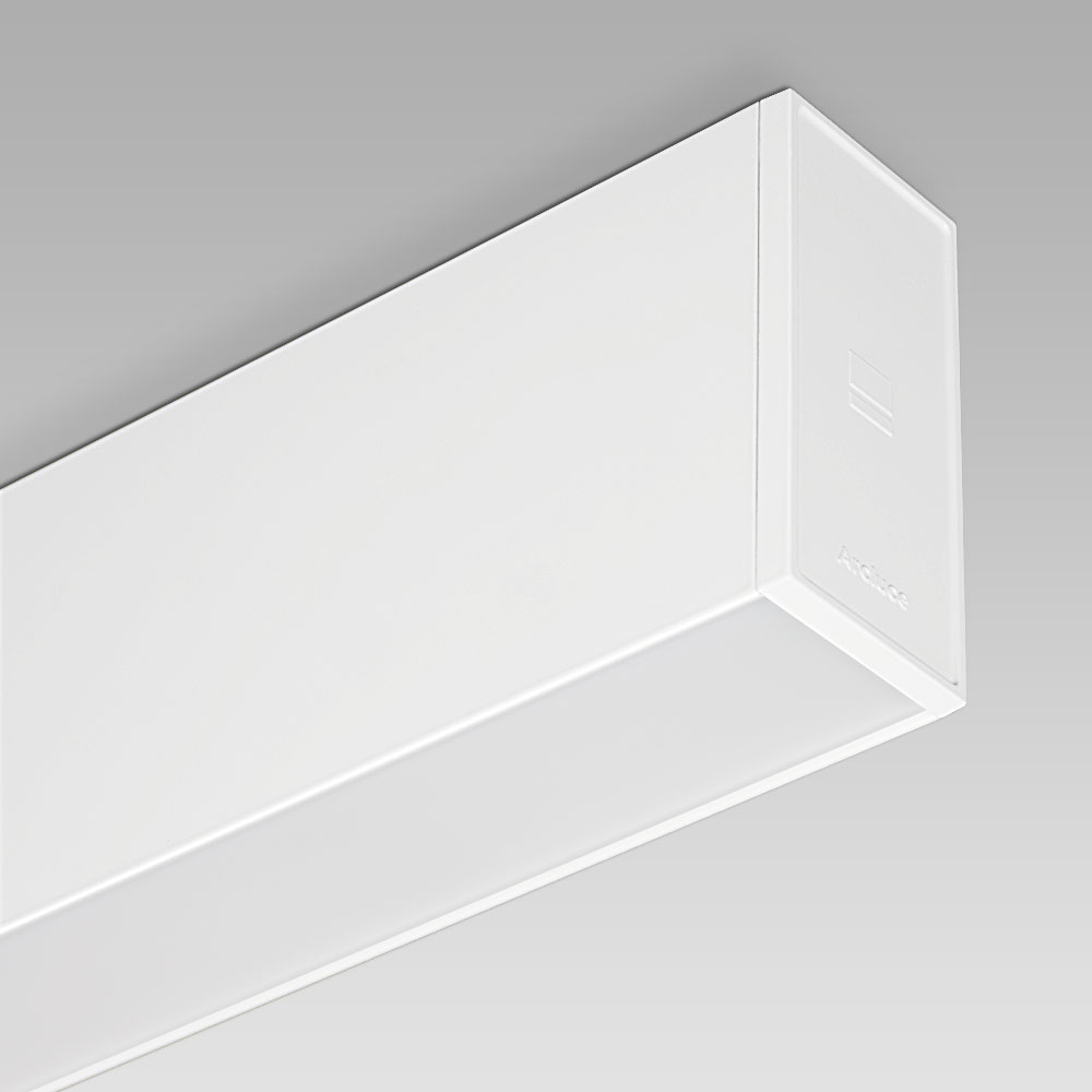 Ceiling fittings Ceiling-mounted downlight with linear shape, perfect for the most elegant interiors