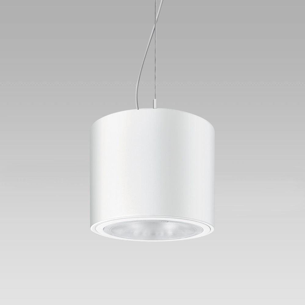 Pendant luminaires Ceiling-mounted or suspended luminaire with cylindrical shape, for a high visual comfort indoor lighting