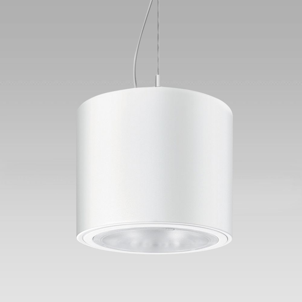Pendant luminaires Ceilig-mounted, suspended or electrified-track downlight for indoor lighting, providing a powerful and diffused illumination