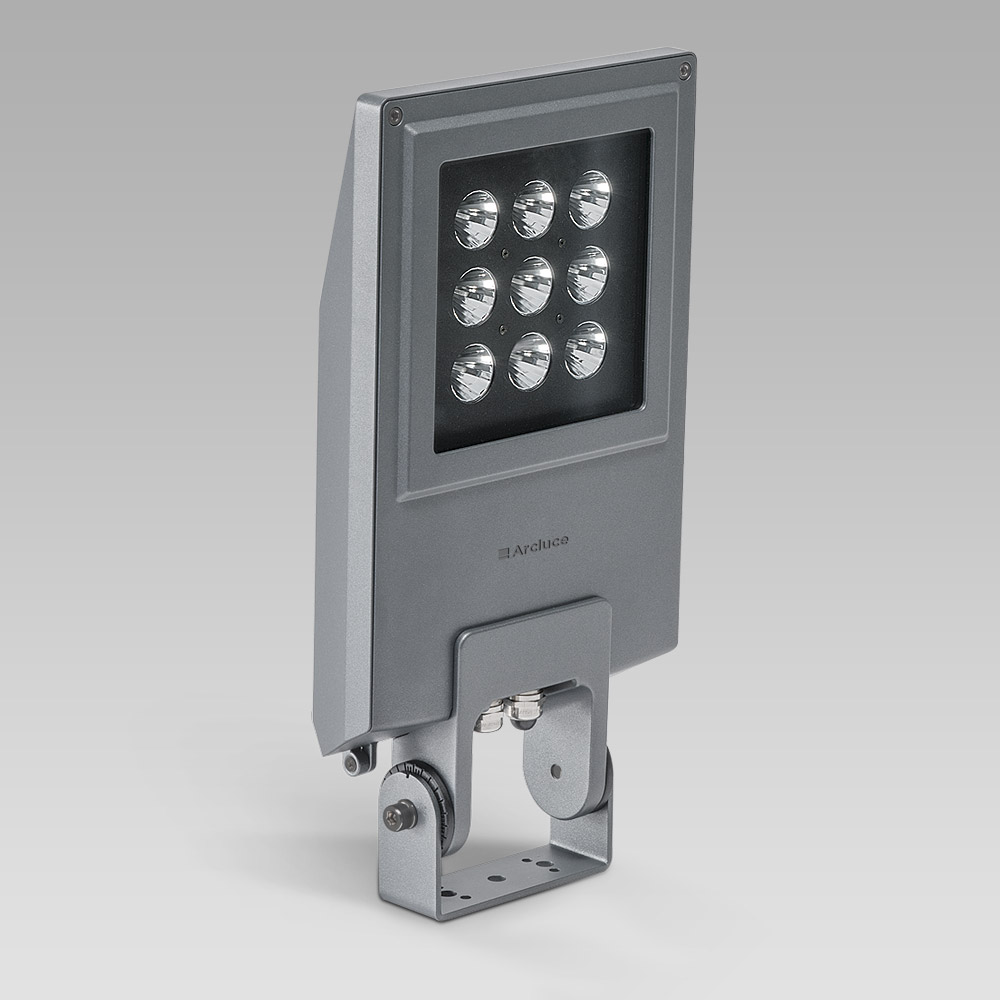 Floodlight for outdoor lighting featuring a sleek design and high lighting performance-FORMAT1