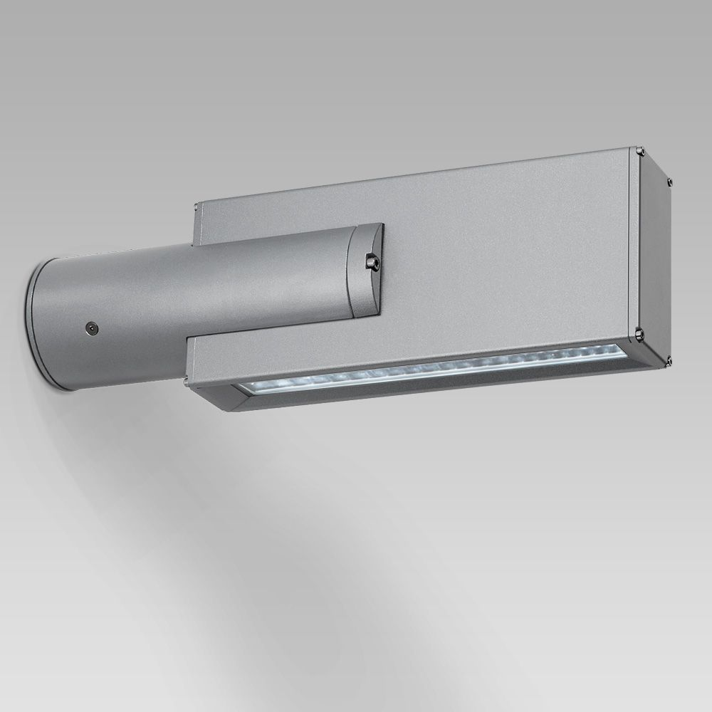 Wall-mounted luminaire for facade lighting with a geometrical, contemporary design