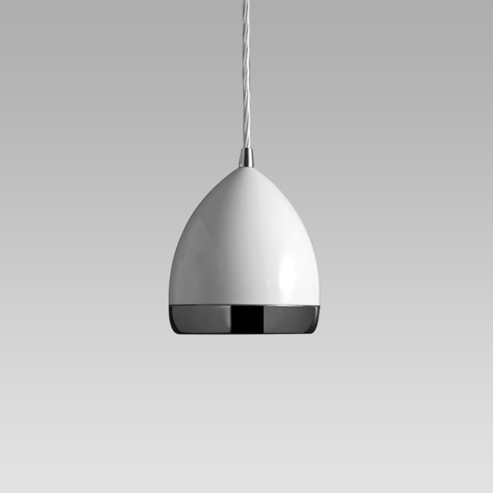 Pendant luminaires Suspended luminaire featuring a stylish design for indoor lighting; it can be installed on electrified tracks