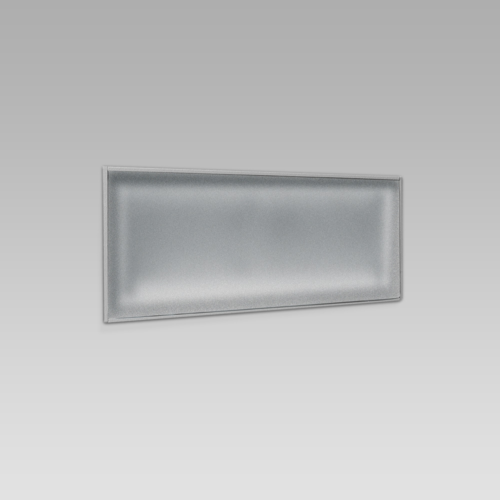Wall recessed steplight for functional lighting with linear design