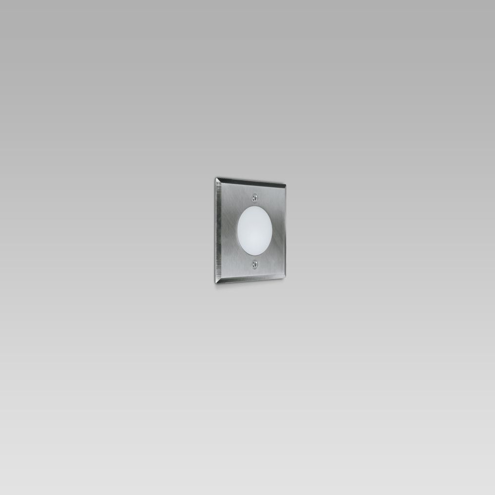 Wall recessed light fixture for indoor and outdoor lighting, featuring a simple design
