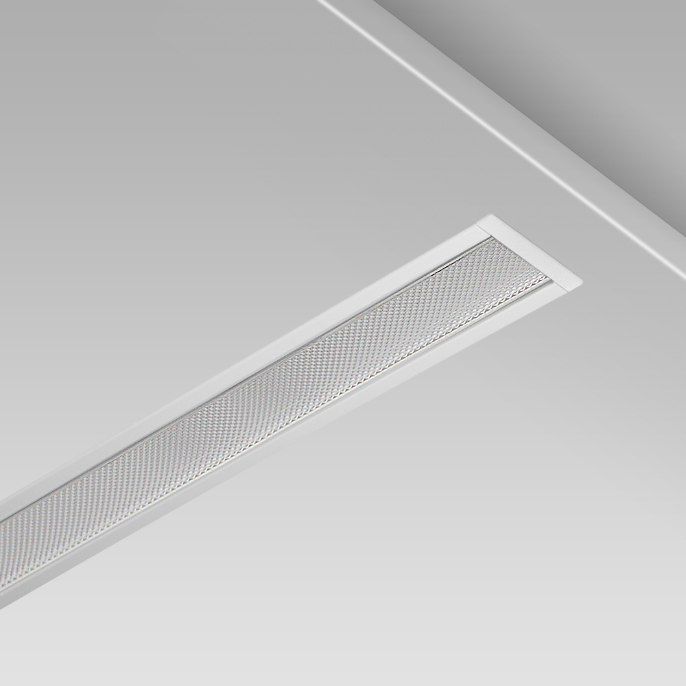 Modular lighting systems Ceiling recessed modular lighting system with an elegant linear design