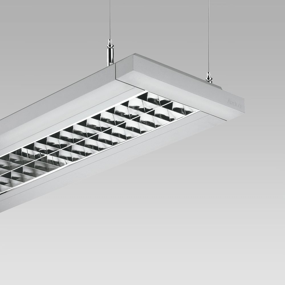 Modular lighting systems Linear suspended luminaire, also suitable for the creation of  modular lighting systems in indoor lighting
